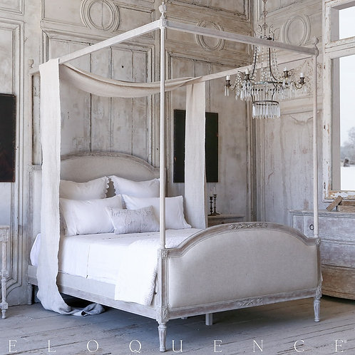 Dauphine King Canopy Bed in Beach House Natural