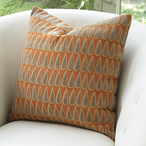 Copper Rain Drops Pillow