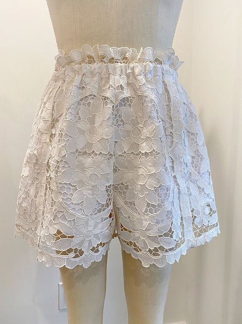 Paperbag Lace Shorts
