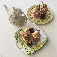 Morning tea - with miniature scones, cre