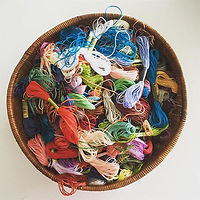 Beautiful coloured threads for our embro