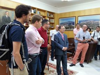 Juan Vivas y Juan Manuel Doncel, apoyando el evento BLOGTRIP CEUTA, EXPERIENCIA AL SUR DEL SUR