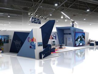 Así será el stand de Ceuta en Fitur 2018