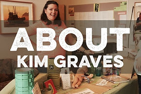 Image of Kim Graves with printed title About Kim Graves overlaid