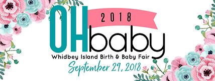 Advertising banner for Oh Baby Whidbey Island Birth and Baby Fair