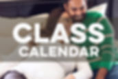 Image of couple cuddling with text class calendar overlaid