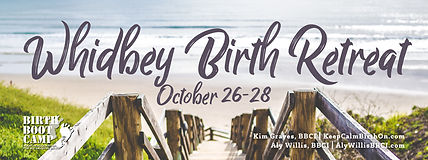 Advertising banner for Whidbey Birth Retreat