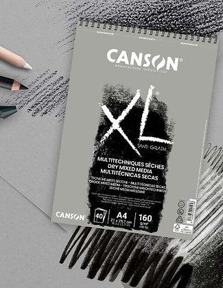 """בלוק במרקם """"חול"""" - דפים אפורים A4 Canson"""