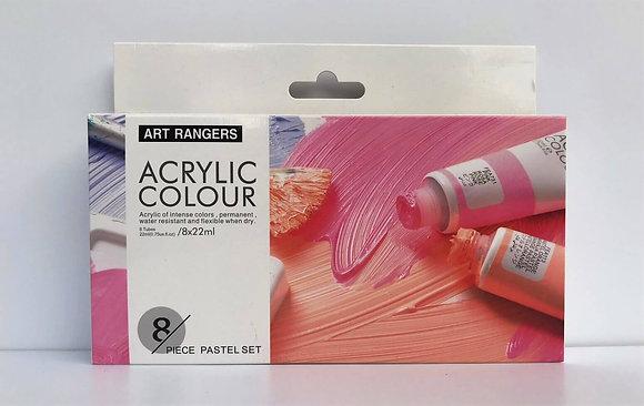 """סט צבעי אקריליק גווני פסטל 22 מ""""ל - Art Rangers"""
