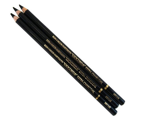מארז 3 עפרונות פחם - קוהינור