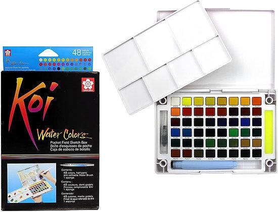 סט 48 צבעי מים מבית סקורה SAKURA , סדרת koi