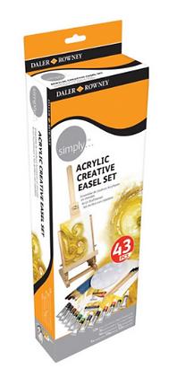 סט 43 חלקים צבעי אקריליק