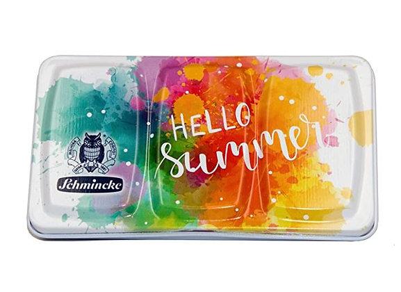 סט צבעי מים לטיולים, 12 גוונים בקופסה קומפקטית schminke
