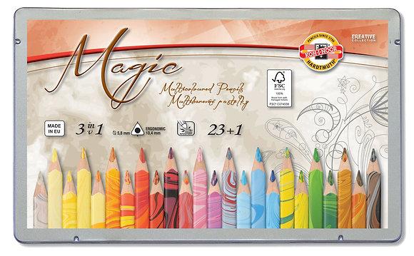 סט עפרונות ״מולטיקולור״ 24 יח׳ דמוי שיש
