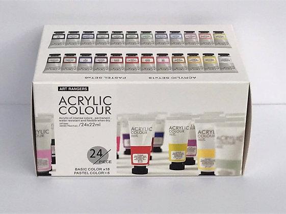 צבעי אקריליק 36 גוונים - Art Rangers