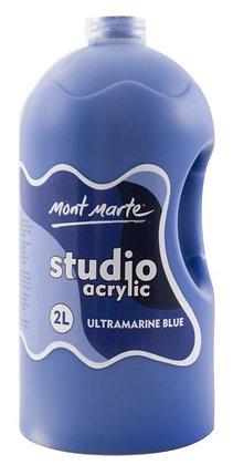 צבע אקריליק כחול ״אולטרמרין״  2 ליטר