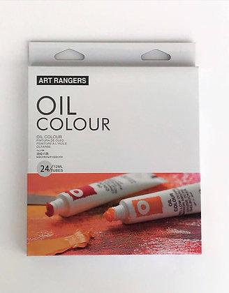 """סט צבעי שמן 24 גוונים, 12 מ""""ל - Art Rangers"""