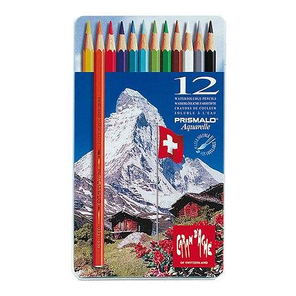 סט עפרונות אקוורל 12 יח׳ ״ההר המושלג״