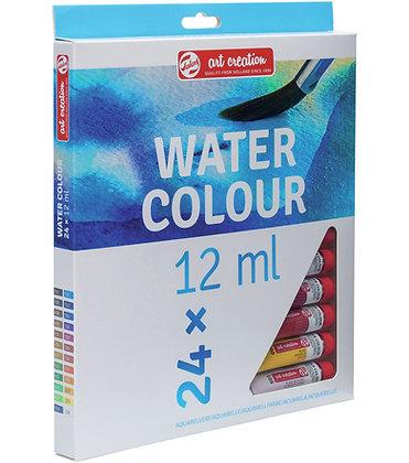 """סט 24 צבעי מים בנפח 12 מ""""ל – Talens"""
