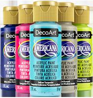 """צבעי אקריליק אמריקנה זרחניים 59 מ""""ל"""