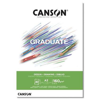 בלוק רישום חספוס עדין Canson A4