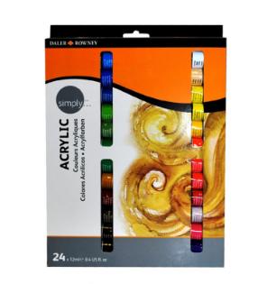 סט צבעי אקריליק 24 יח׳