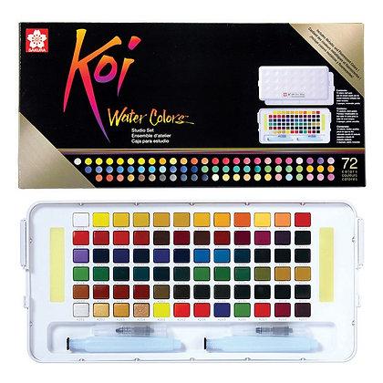 סט 72 צבעי מים מבית סקורה SAKURA , סדרת koi