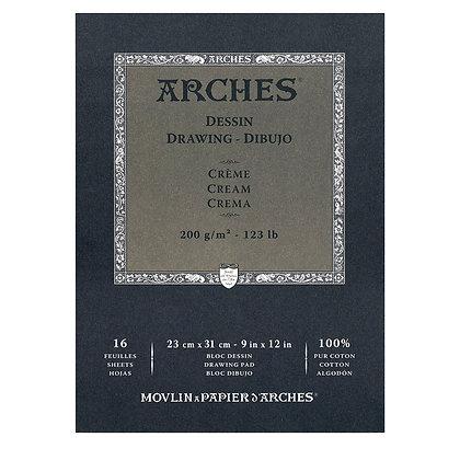 """Arches סקצ'בוק לרישום גוון קרם 36*26 ס""""מ"""