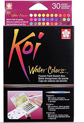 סט 30 צבעי מים מבית סקורה SAKURA , סדרת koi