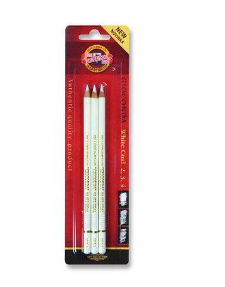 מארז 3 עפרונות גיר לבן - קוהינור