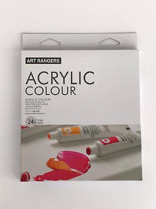 """צבעי אקריליק 24 גוונים, 12 מ""""ל - Art Rangers"""