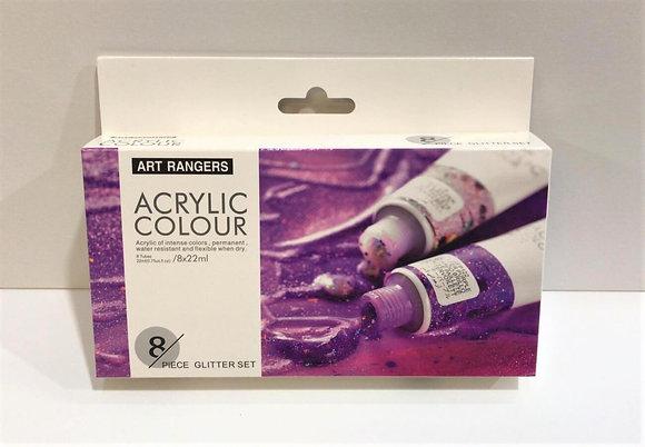 """סט צבעי אקריליק נצנצים 22 מ""""ל - Art Rangers"""
