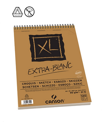 Canson XL אקסטרה לבן A4
