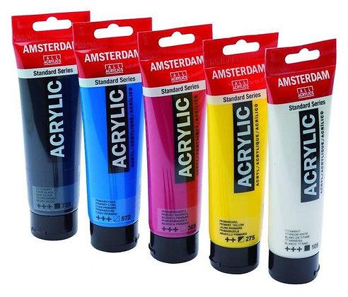 צבעי אקריליק אמסטרדם 120 מ״ל