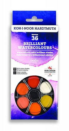 סט 36 צבעי מים בוהקים מבית קוהינור