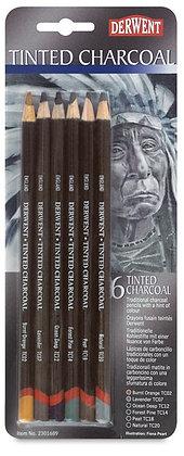 Derwent סט 6 עפרונות פחם