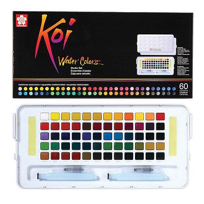 סט 60 צבעי מים מבית סקורה SAKURA , סדרת koi