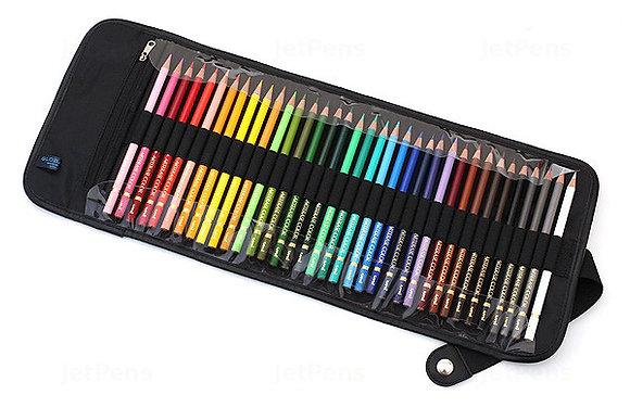 סט 36 עפרונות פוליקולור בקייס מגולגל