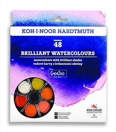 סט 48 צבעי מים בוהקים מבית קוהינור