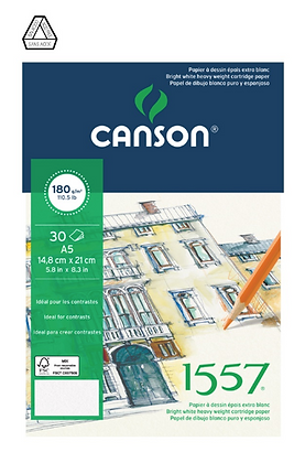 "Canson ""1557"" A5 180 גרם"