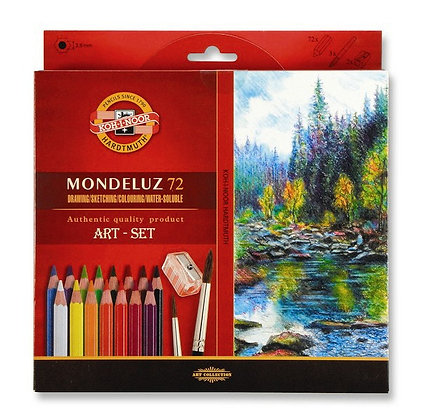 סט עפרונות אקוורל 72 יח׳ עם מחדד ומכחול