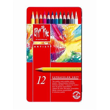 סט עפרונות אקוורל 12 יח׳ סופט