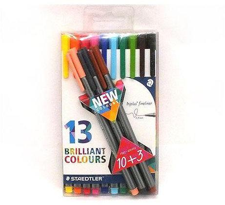 סט עטים צבעוניים שטדלר - 13 יח'