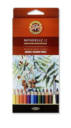 סט עפרונות אקוורל 12 יח׳