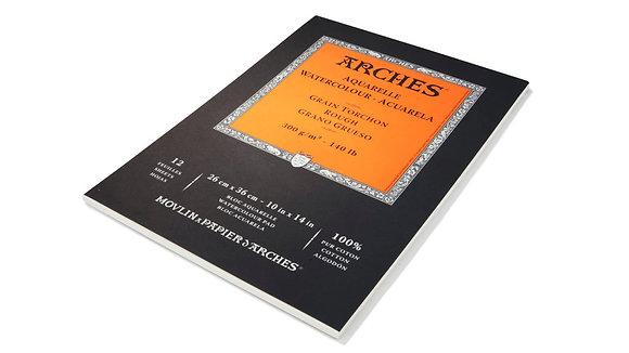 בלוק לצבעי מים - Arches - טקסטורה גסה A4