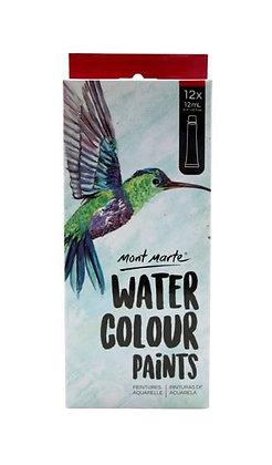 סט 12 צבעי מים בשפופרות Monte Marte