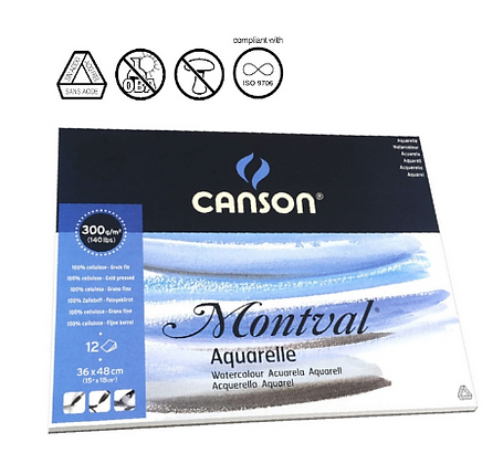 """Canson """"Montval נייר לאקוורל"""