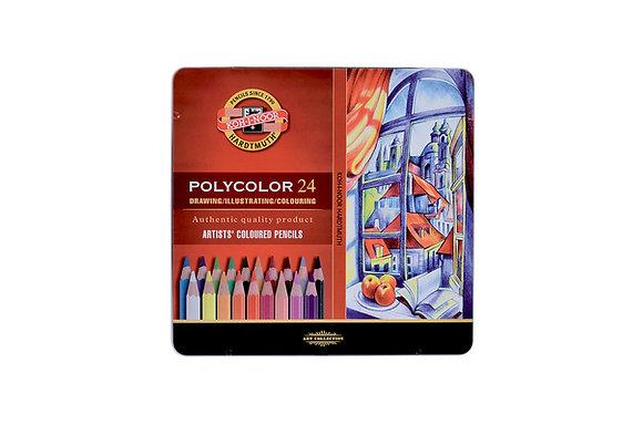 עפרונות שעווה פוליקולור 24 יח׳