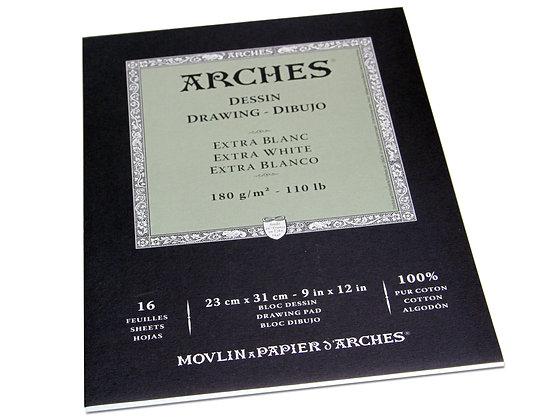 "Arches סקצ'בוק לרישום ""לבן שלג"" 23*31 ס""מ"