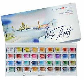 צבע מים - 21 גוונים בקופסת מתכת - חברת St Petersburg